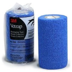 3M™Vetrap™ Bandaging Tape Blue 10cm x 4.5m 100pcs