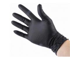 Black Nitrile disposable, powdered Gloves – Size L 100pcs+++