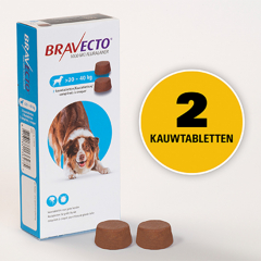 Bravecto 1x2 Chews for Dogs 20-40kg