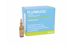 Fluimucil 4ml amp. 20 pcs. 100mg/ml