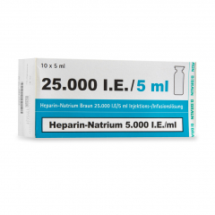 Heparine natrium 25.000 IE/ml  10 x 5 ml