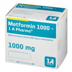Metformin 1000mg 1A Pharma tabl. 120st
