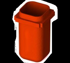 Owl Manor - Orange Centrifuge Bucket, 2 pcs