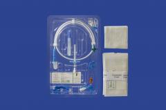 Peel away catheter double lumen