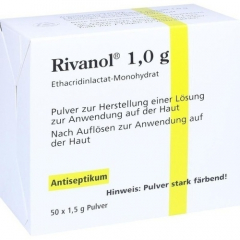 Rivanol 1,0 g powder 50 sticks 1,5g