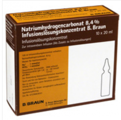 Braun - Sodium Bicarbonate 8.4%,  5 ampoules. x 20 ml