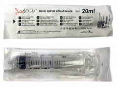 Sol-M - Slip Tip Syringe w/o Needle 20ml concentric (100pcs)