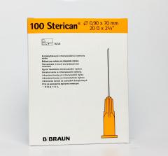 B.Braun Needles 20G x 2.75 (0,9 x 70 mm) 100 stuks