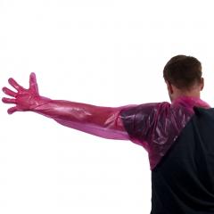 Disposable Gloves Shoulder Model in pink 90 cm 50 pcs