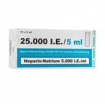 Heparine natrium 25.000 IE/ml  10 x 5 ml