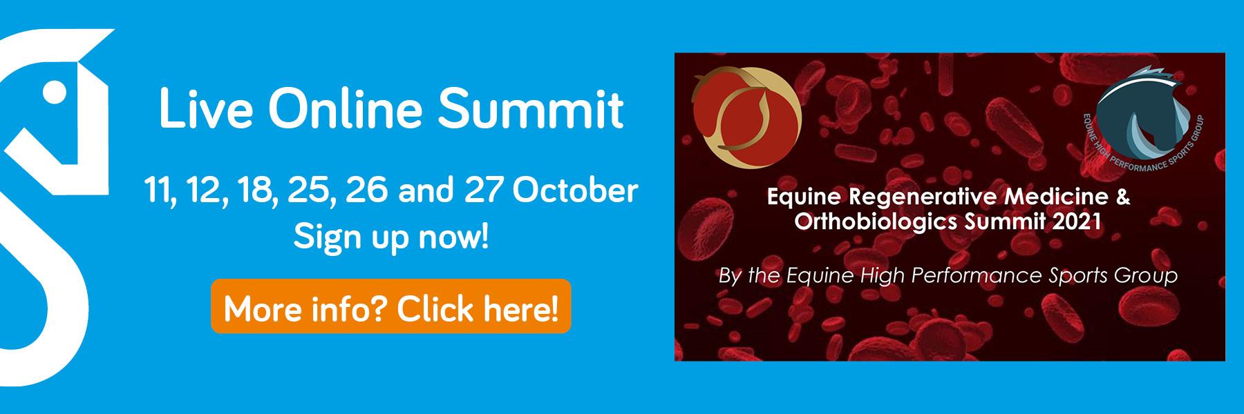 Equine regenerative medicine and orthobiologics summit for horses 2021